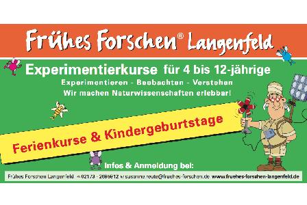 Frühes Forschen Langenfeld: Forscherkurse